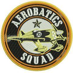 Aerobatics Squad embroidery design
