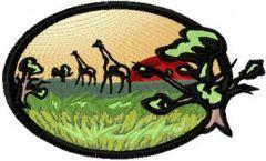 African savanna embroidery design