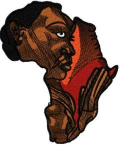 Africa Woman art embroidery design