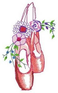 After ballet embroidery design