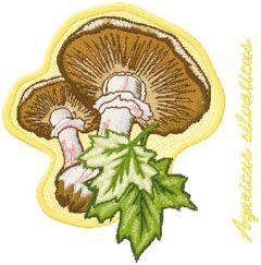 Agaricus silvaticus embroidery design