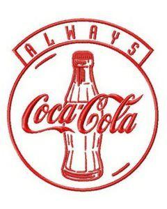 Always Coca-Cola 2 embroidery design