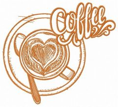 Always hot coffee 3 embroidery design