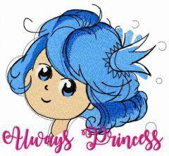 Always princess embroidery design