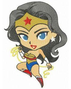 Amazonian Wonder woman embroidery design