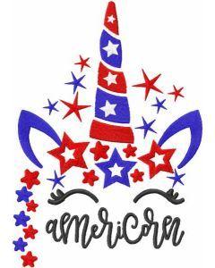 Americorn embroidery design