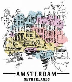 Amsterdam Netherlands 4 embroidery design