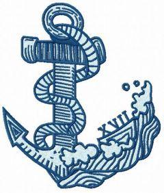Anchor embroidery design 5