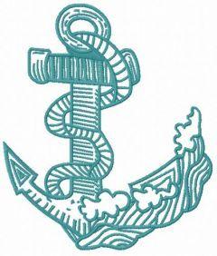Anchor embroidery design 6
