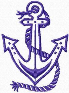 Anchor applique embroidery design