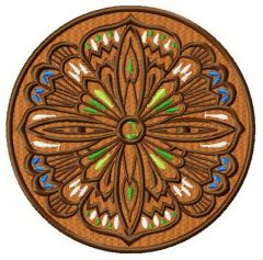 Ancient amulet embroidery design