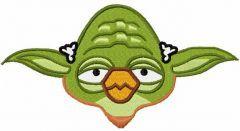 Angry Birds Yoda 3 embroidery design