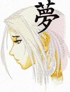 Anime embroidery design