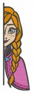 Anna hiding embroidery design