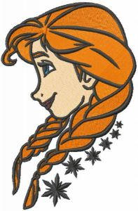 Anna loving time embroidery design