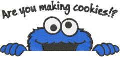 Are you making cookies embroidery design