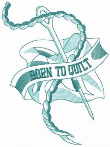 Are you ready to quilt? embroidery design