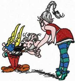 Gallant Asterix embroidery design