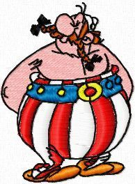 Obelix 2 embroidery design