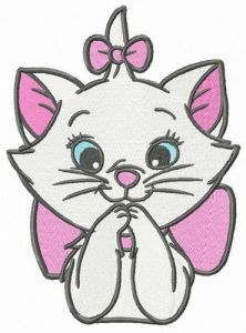 Astonished Marie embroidery design