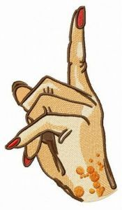 Attention please! embroidery design
