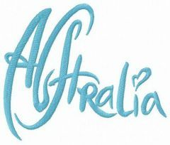 Australia 3 embroidery design