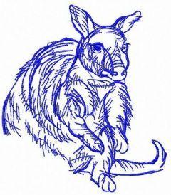 Australian kangaroo 3 embroidery design