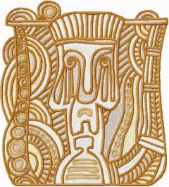 Totem embroidery design