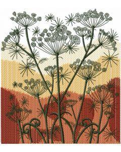Autumn field embroidery design