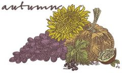 Autumn gifts embroidery design