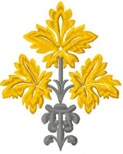 Autumn Leaf embroidery design