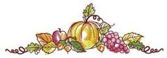 Autumn tasty gifts embroidery design