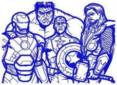 Avengers embroidery design