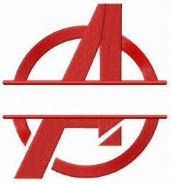Avengers monogram embroidery design