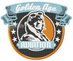 Aviation golden age embroidery design