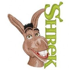 Donkey with Logo embroidery design