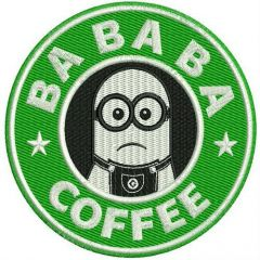 Bababa coffee machine embroidery design