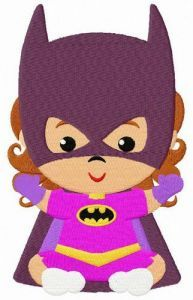 Baby Batwoman embroidery design