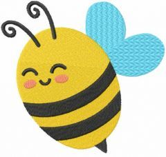 Baby bee free embroidery design