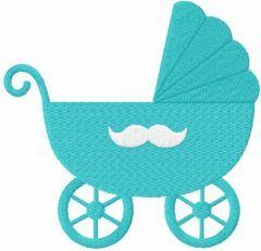 Baby boy pram free embroidery designs
