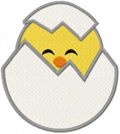Cute baby chick free embroidery design