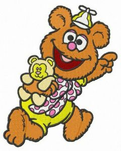 Baby Fozzie embroidery design