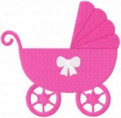 Baby girl pram free embroidery design