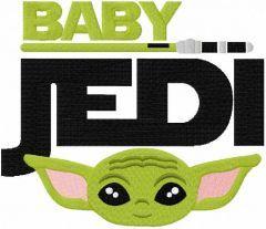 Baby jedi embroidery design