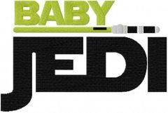 Baby jedi sword embroidery design