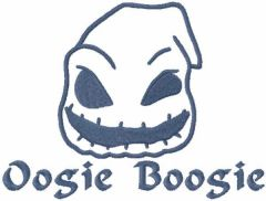 Baby oogie boogie one colored embroidery design