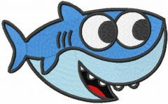 Baby shark embroidery design 2