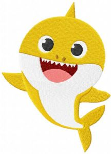 Baby shark embroidery design