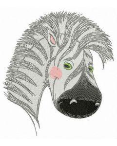 Baby zebra muzzle embroidery design