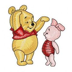 Baby Pooh and Piglet embroidery design